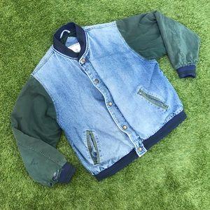 ❣️ super rad vintage thrashed denim bomber jacket
